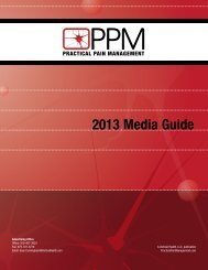 2013 Media Guide (1 MB) - Practical Pain Management