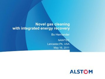 Novel gas cleaning with integrated energy recovery - NAWTEC