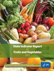 State Indicator Report Fruits and Vegetables
