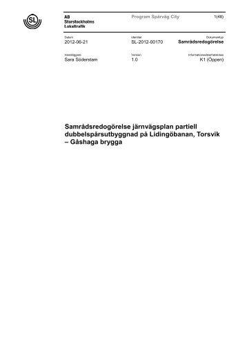 Bilaga 2 Samrådsredogörelse järnvägsplan Lidingöbanan - SL