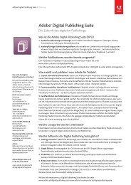 Adobe® Digital Publishing Suite - Verband Druck und Medien
