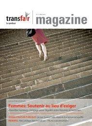 Femmes: Soutenir au lieu d'exiger - Transfair