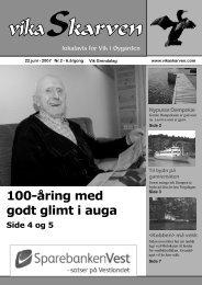 100-åring med godt glimt i auga - Vikaskarven