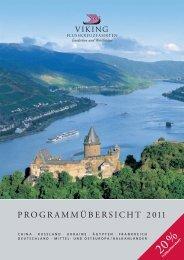 PROGRAMMÜBERSICHT 2011 - Viking Flusskreuzfahrten