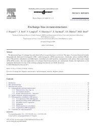 Exchange bias in nanostructures