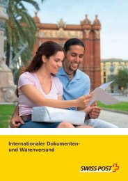 Internationaler Dokumenten- und Warenversand