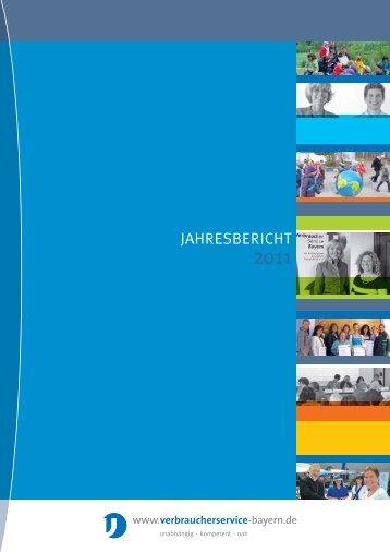 JAHRESBERICHT - VerbraucherService Bayern