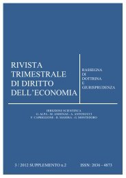 rivista trimestrale di diritto dell'economia - Fondazione Capriglione ...