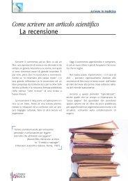 La recensione - Il Pensiero Scientifico Editore