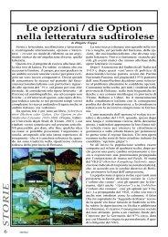 Le opzioni / die Option nella letteratura sudtirolese - EmScuola