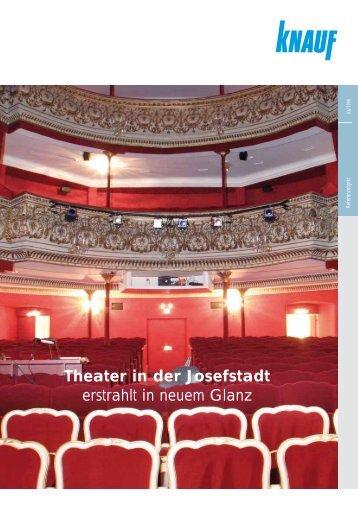 """""""Theater in der Josefstadt erstrahlt in neuem Glanz"""" (PDF / 173 KB)"""