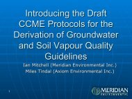 Introducing the Draft CCME Protocols for the Derivation of ...