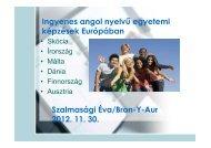 Ingyenes angol nyelvű egyetemi képzések Európában Szalmasági ...