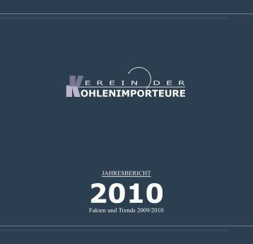Jahresbericht 2010 - Verein der Kohlenimporteure eV