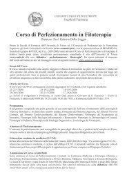 Corso di Perfezionamento in Fitoterapia - Ordine dei Farmacisti