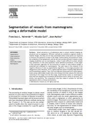 Segmentation of vessels from mammograms using a deformable ...