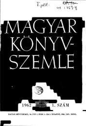 Magyar Könyvszemle 78. évf. 1. szám 1962. Jan.-Márc. - EPA