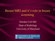 Breast MRI and it's role in breast screening