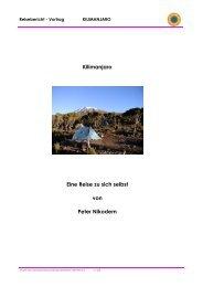 Kilimanjaro Eine Reise zu sich selbst von Peter Nikodem