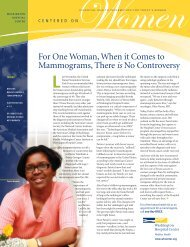 For One Woman, When it Comes to Mammograms, There is No ...