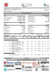 EC Ski Alpin, SWE, SL2 - Vereinsmeier