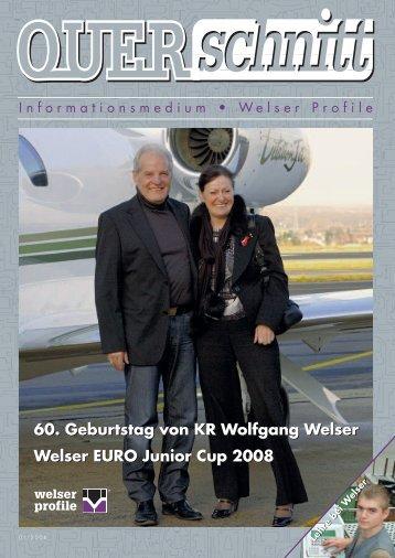 Querschnitt 2008 - Ausgabe 01 - Welser Profile AG