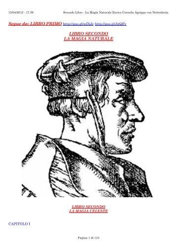 Secondo Libro Magia Naturale Enrico Cornelio Agrip