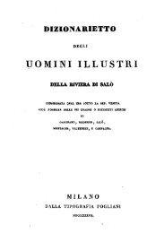 Dizionarietto degli uomini illustri della Riviera di ... - Archivi del Garda
