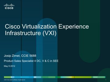 Virtual Desktops - Cisco Expo Bosnia 2012