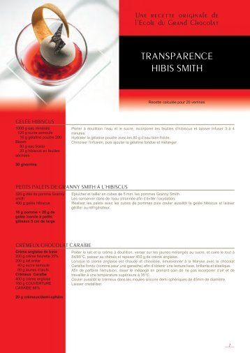 TRANSPARENCE HIBIS SMITH - Confrérie des quatre vents