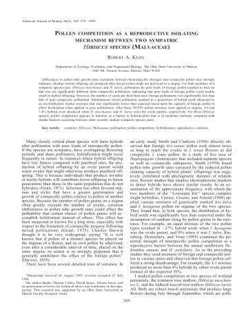 American Journal of Botany 86(2): 269–272