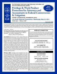 Privilege & Work Product Protection for Attorneys and - The Florida Bar