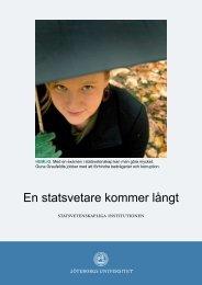 En statsvetare kommer långt - Göteborgs universitet