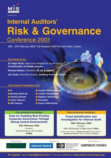 Internal Auditors' Risk & Governance Conference 2003