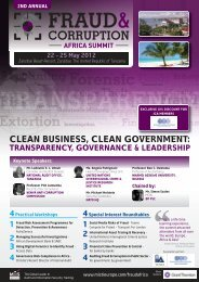 clean business, clean government - International Compliance ...