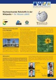 Nachwachsende Rohstoffe in der Wikipedia (PDF) - nova-Institut ...