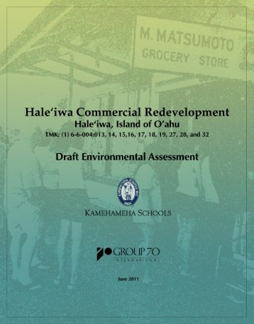 Draft Environmental Assessment - Kamehameha Schools