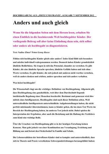 Hochbegabt - Talentia