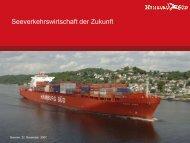 Seeverkehrswirtschaft der Zukunft