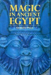 Magic in Ancient Egypt *ISBN 0292765592* - Free History Ebooks