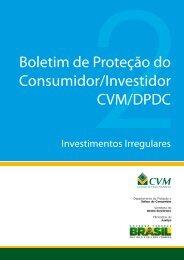 Boletim de Proteção do Consumidor/Investidor CVM/DPDC