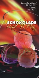"""Flyer """"Schokolade und Wein"""" - Verkehrsverein Bensheim eV"""