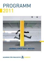 PROGRAMM 2011 - Akademie für Publizistik