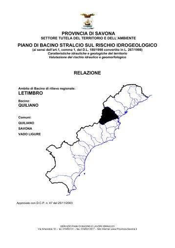 Relazione generale - CartOnLine della Provincia di Savona