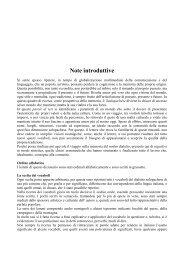 Note introduttive - Dongiacomo Francesco