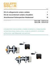 Kit di collegamento solare-caldaia I Kit de raccordement ... - Caleffi