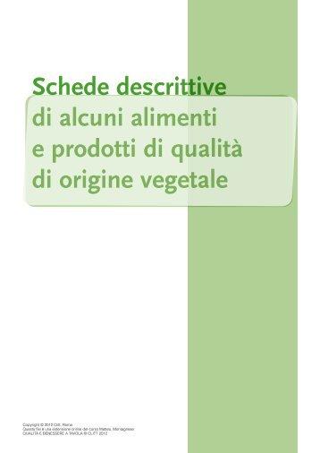 Schede descrittive di alimenti di origine vegetale - Clitt