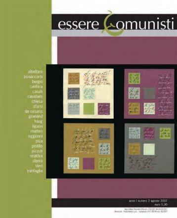 scarica il pdf della rivista - Essere Comunisti