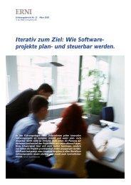 Iterativ zum Ziel: Wie Software- projekte plan- und steuerbar werden.