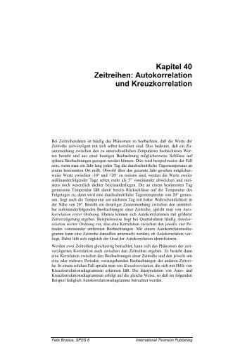 Kapitel 40 Zeitreihen: Autokorrelation und Kreuzkorrelation